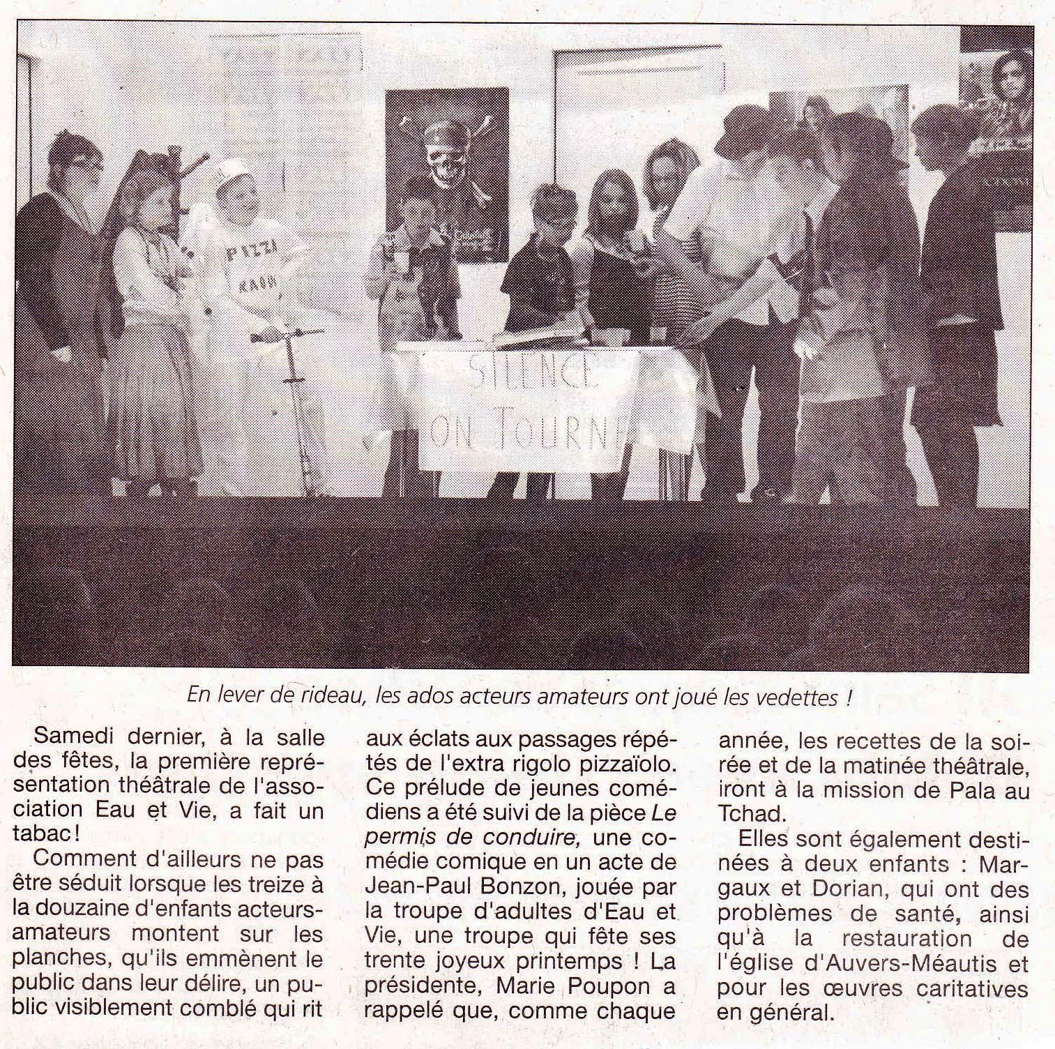 Article La Presse de la Manche 21/4/2011